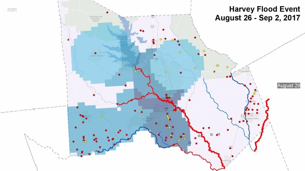 Montgomery County, Texas Flood Event 2017 - Youtube - Montgomery County Texas Flood Map