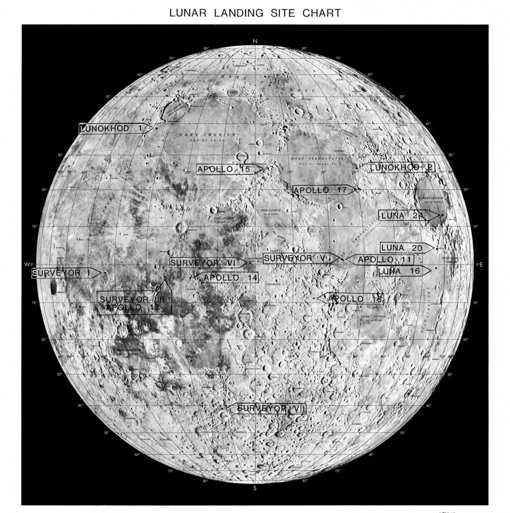 Moon Moon Map Astronomy Print 98 | Etsy - Printable Moon Map