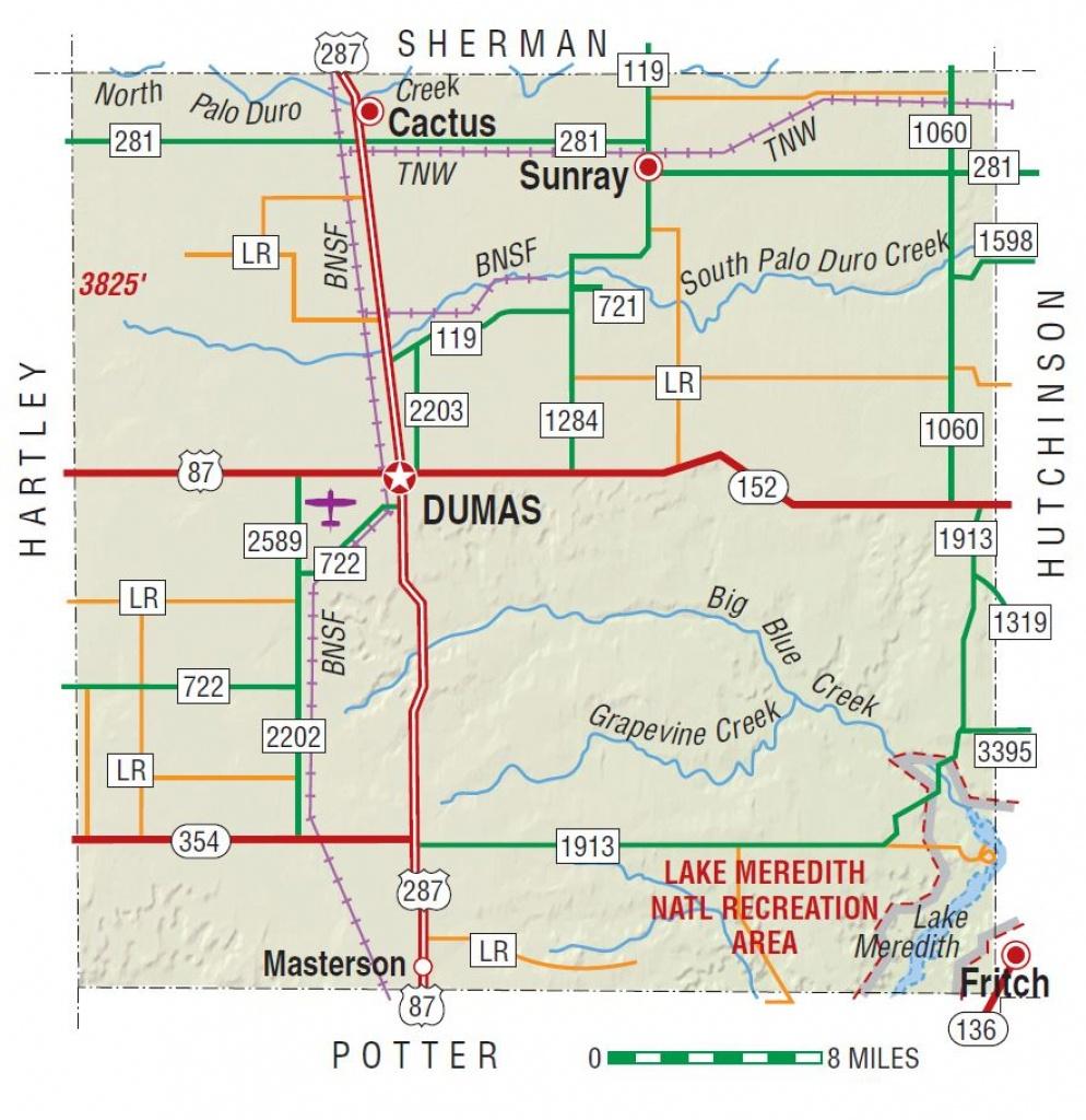 Moore County | The Handbook Of Texas Online| Texas State Historical - Dumas Texas Map