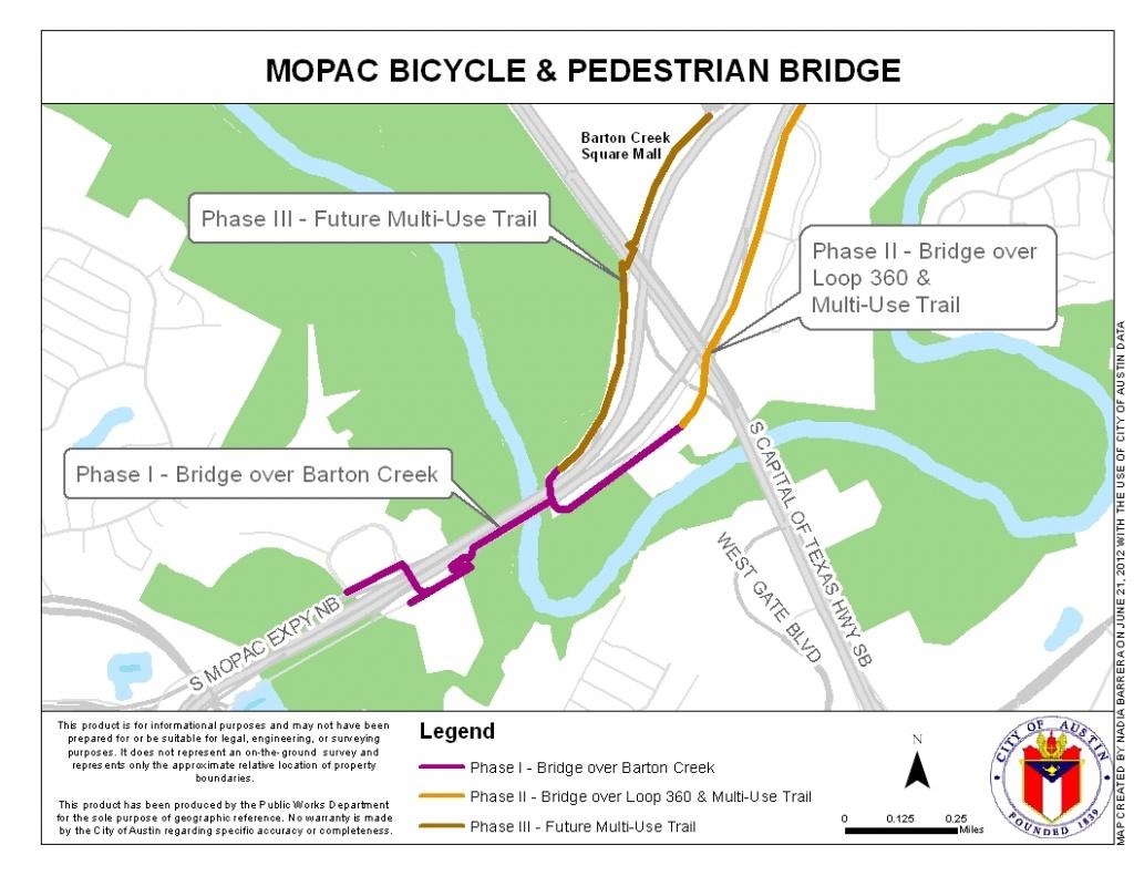 Mopac Mobility Bridges | Austintexas.gov - The Official Website Of - Austin Texas Bicycle Map