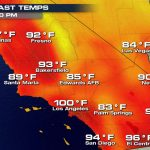 More Record Heat In Southern California   Hot Again For The World   Heat Map Southern California