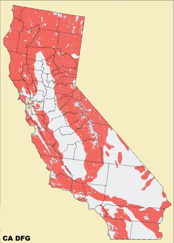Mountain Lions In California Map