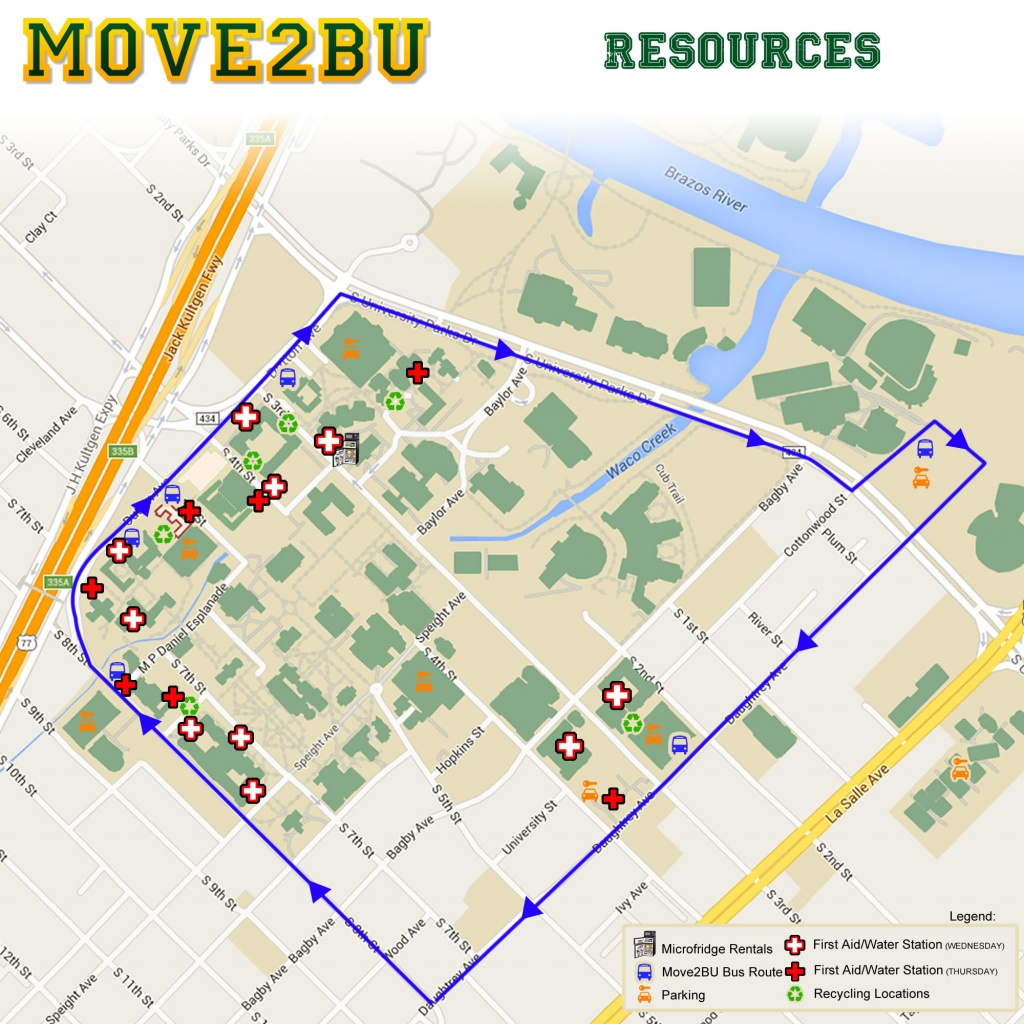 Move-In   Campus Living & Learning   Baylor University - Texas State University Housing Map