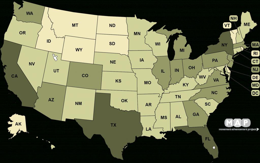 Movement Advancement Project | Lgbt Populations - Texas Population Heat Map