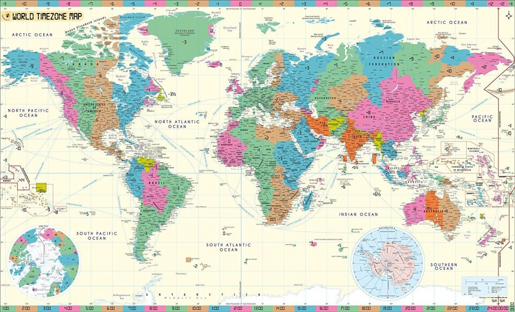 Mow Amz On | Maps | Time Zone Map, World Time Zones, World Map Poster - Maps With Time Zones Printable