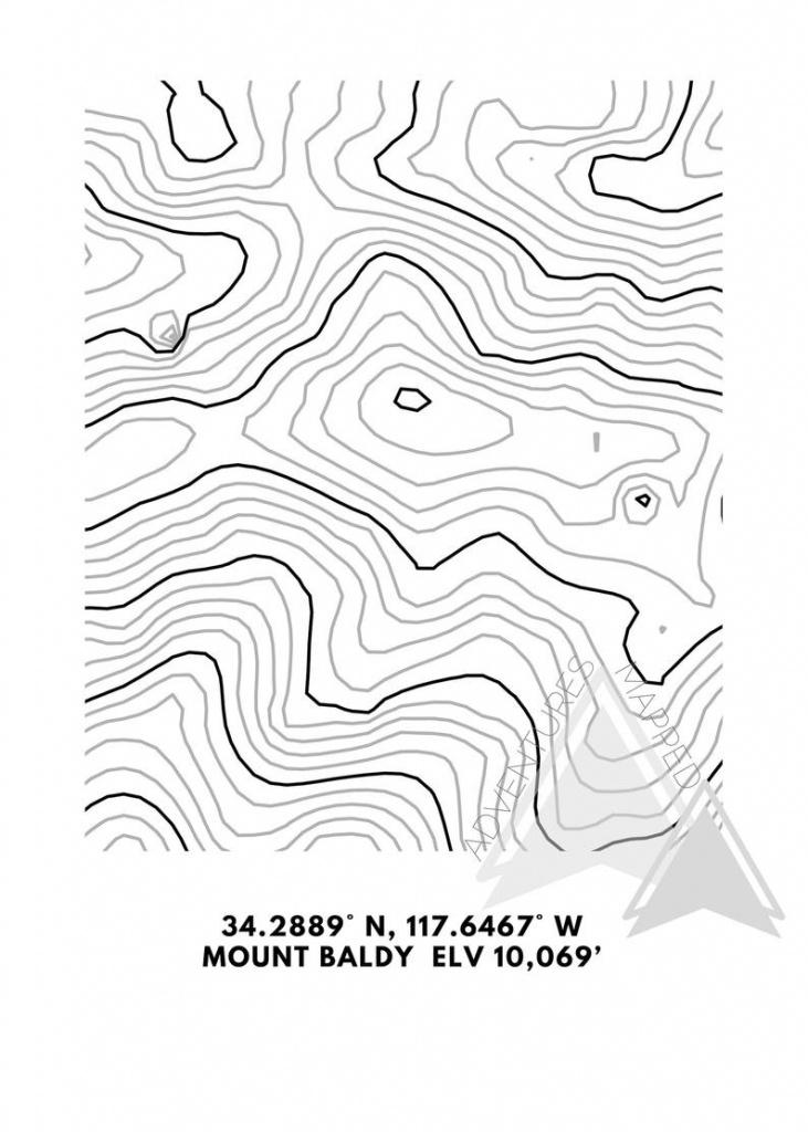 Mt. Baldy Topographic Map Printable Digital Download Gift   Etsy - Topographic Map Printable
