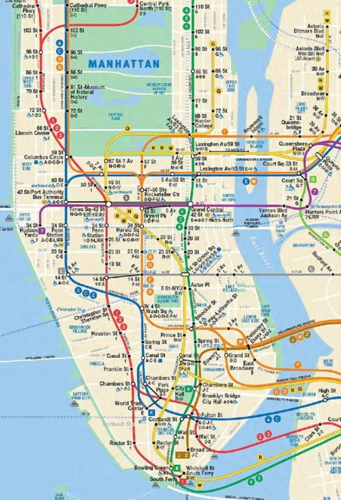 Mta Gives Peek At Updated Subway Map With Second Ave. Line | New - Printable New York Subway Map