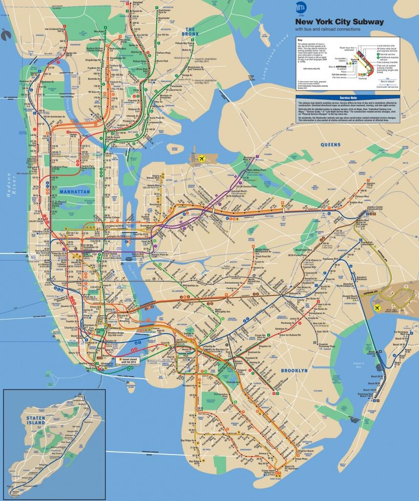 Mta | Mta Subway Map | Places I Want To Go | Nyc Subway Map - Nyc Subway Map Manhattan Only Printable