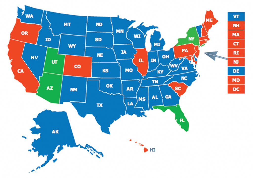 Multi-State Ccw Class - Florida Ccw Map