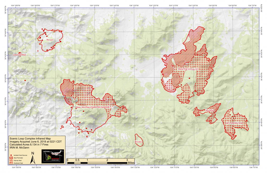 Multiple Fires Continue To Burn Through Davis Mountains Area | Krts - Texas Active Fire Map