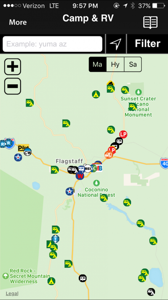 Must Have App For Rvers - Allstays Camp And Rv App - Rv Dealers In Florida Map