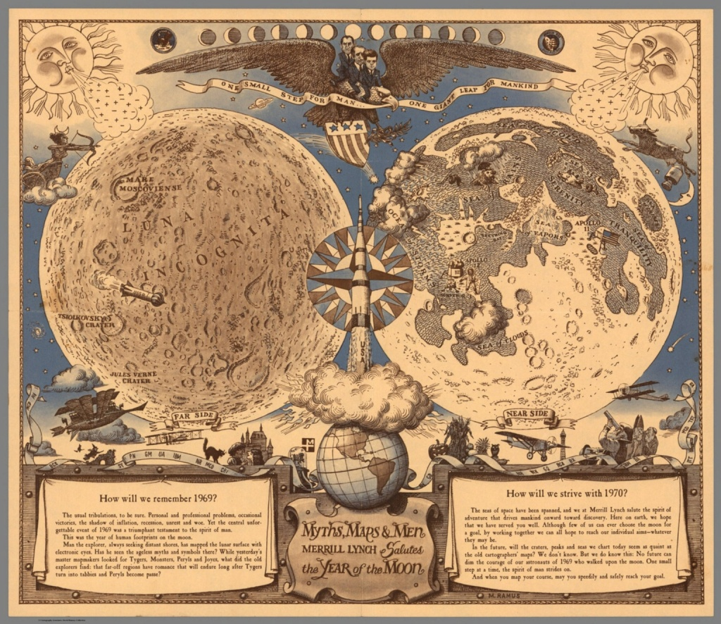 Myths, Maps, And Men. Merrill Lynch Salutes The Year Of The Moon - Printable Moon Map