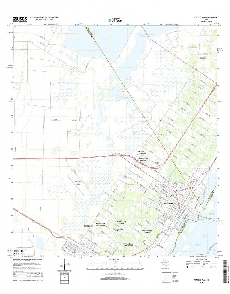Mytopo Aransas Pass, Texas Usgs Quad Topo Map - Map Of Aransas Pass Texas