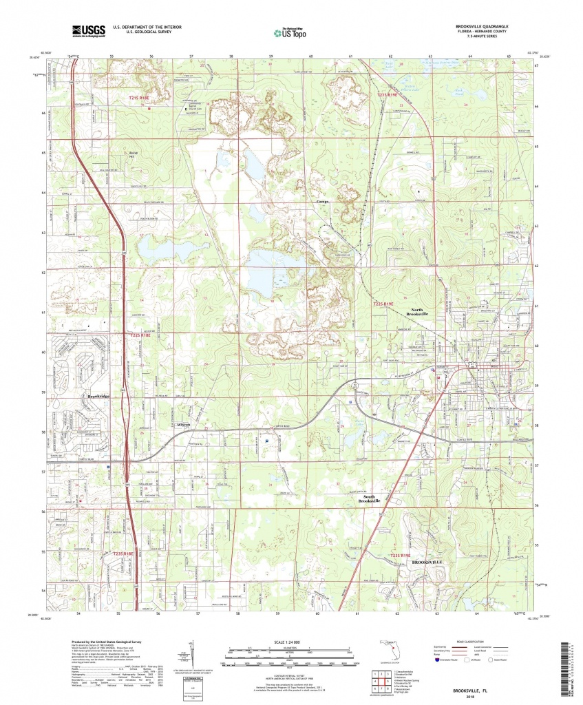 Mytopo Brooksville, Florida Usgs Quad Topo Map - Brooksville Florida Map