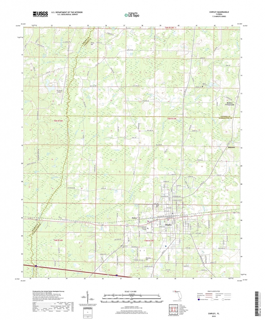 Mytopo Chipley, Florida Usgs Quad Topo Map - Map Chipley Florida