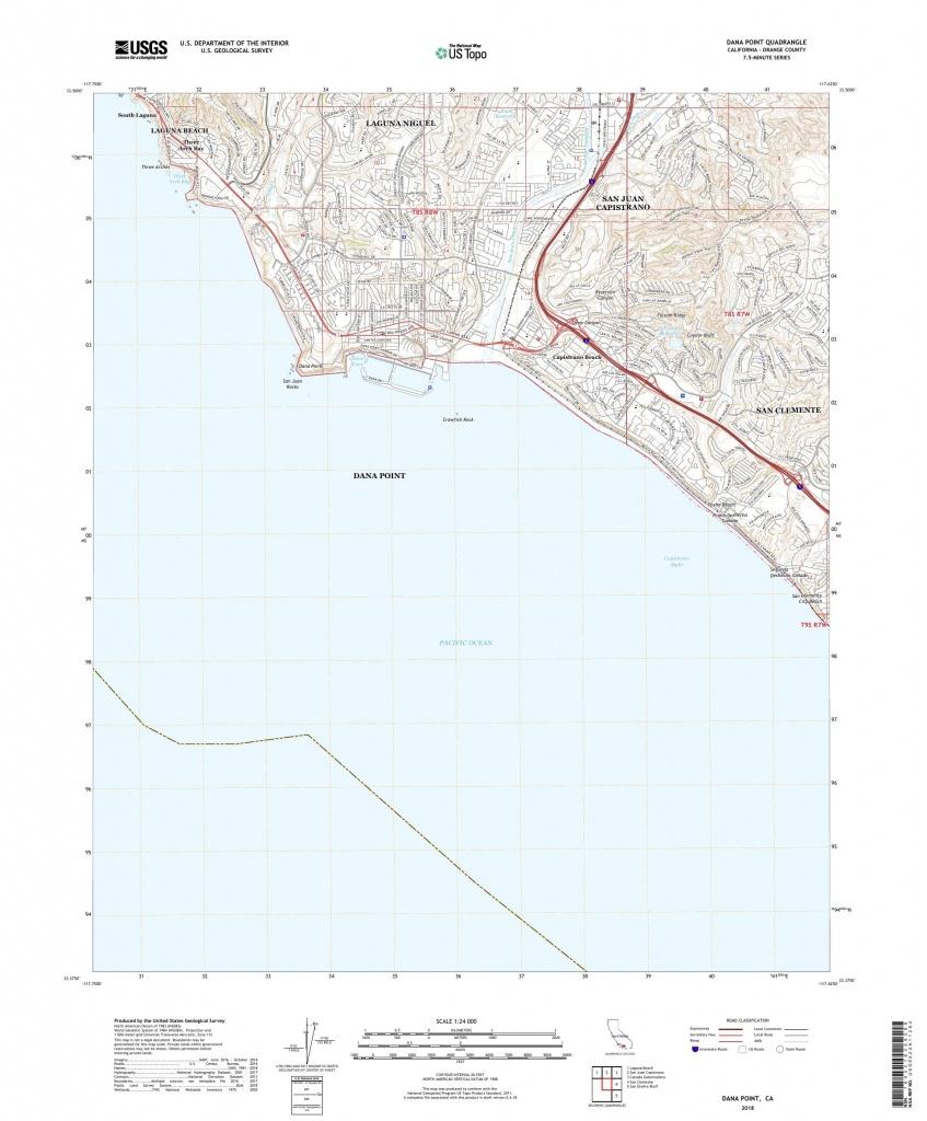Mytopo Dana Point, California Usgs Quad Topo Map - Dana Point California Map