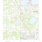 Mytopo Frostproof, Florida Usgs Quad Topo Map   Frostproof Florida Map