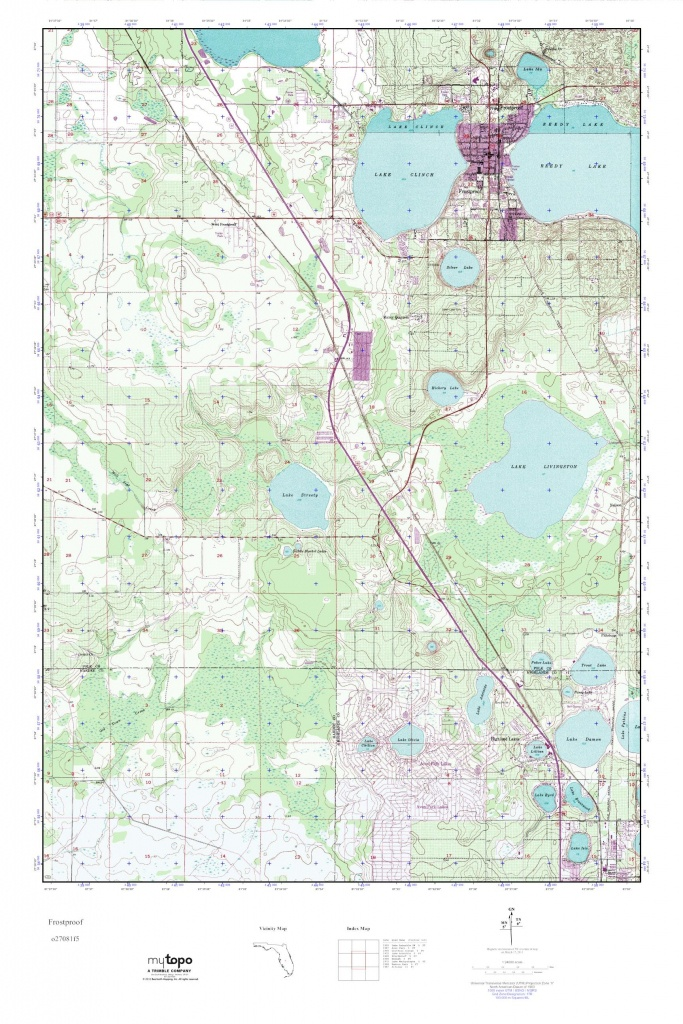 Mytopo Frostproof, Florida Usgs Quad Topo Map - Frostproof Florida Map