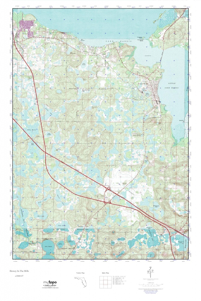 Mytopo Howey In The Hills, Florida Usgs Quad Topo Map - Howey In The Hills Florida Map