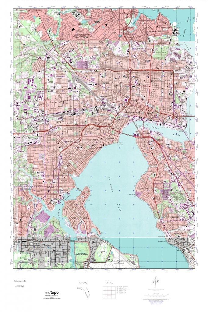 Mytopo Jacksonville, Florida Usgs Quad Topo Map - Usgs Topographic Maps Florida