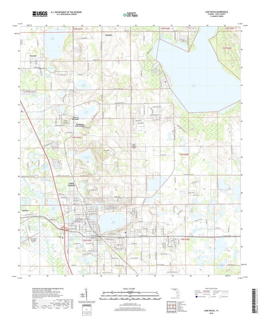 Mytopo Lake Wales, Florida Usgs Quad Topo Map - Lake Wales Florida Map