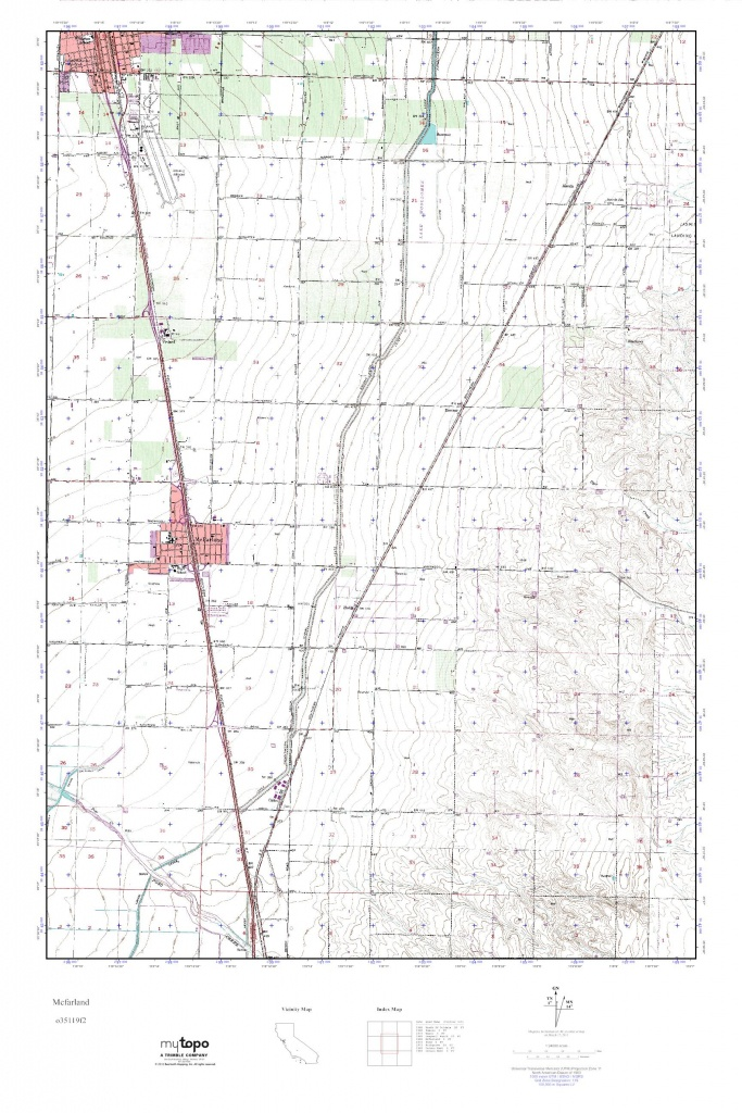 Mytopo Mcfarland, California Usgs Quad Topo Map - Mcfarland California Map