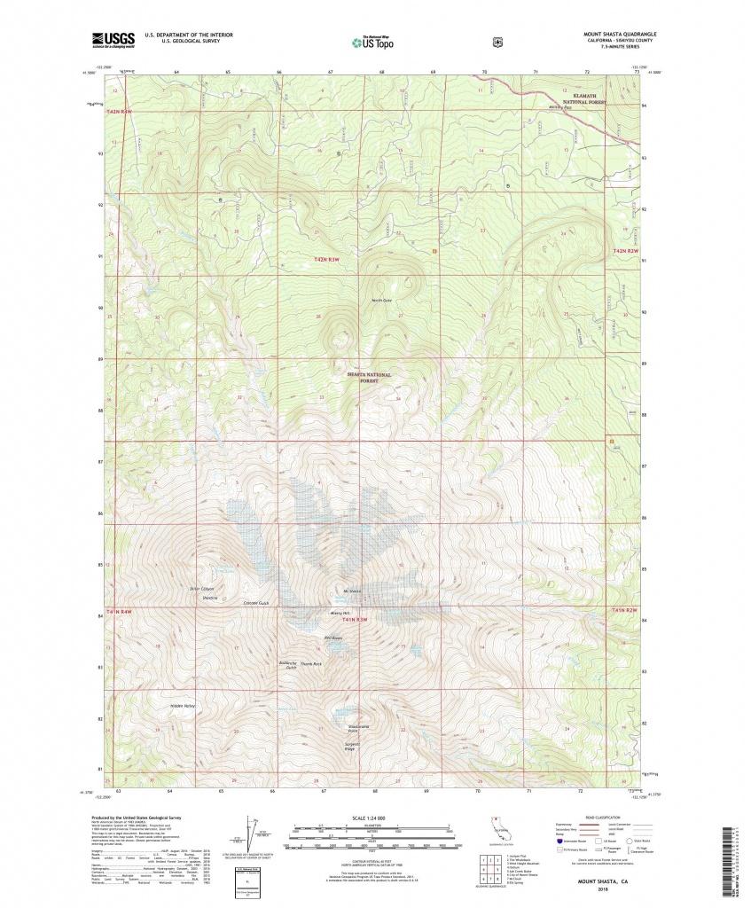 Mytopo Mount Shasta, California Usgs Quad Topo Map - Mount Shasta California Map
