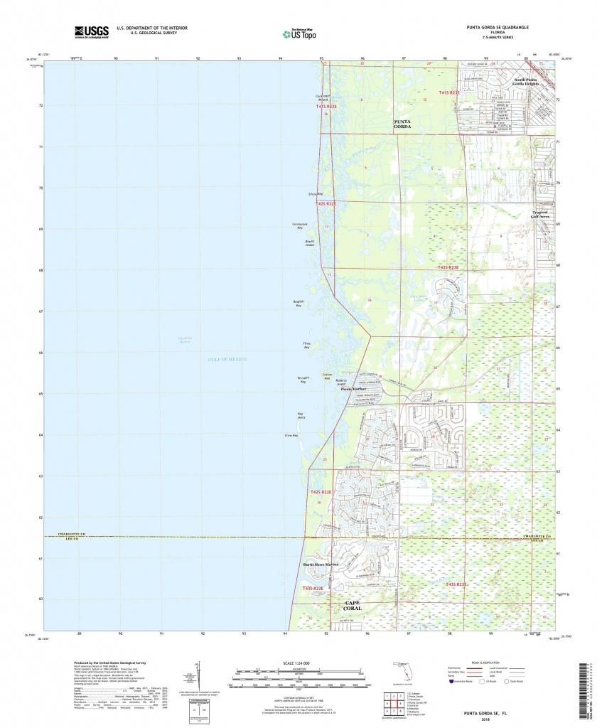 Mytopo Punta Gorda Se, Florida Usgs Quad Topo Map - Punta Gorda Florida Map