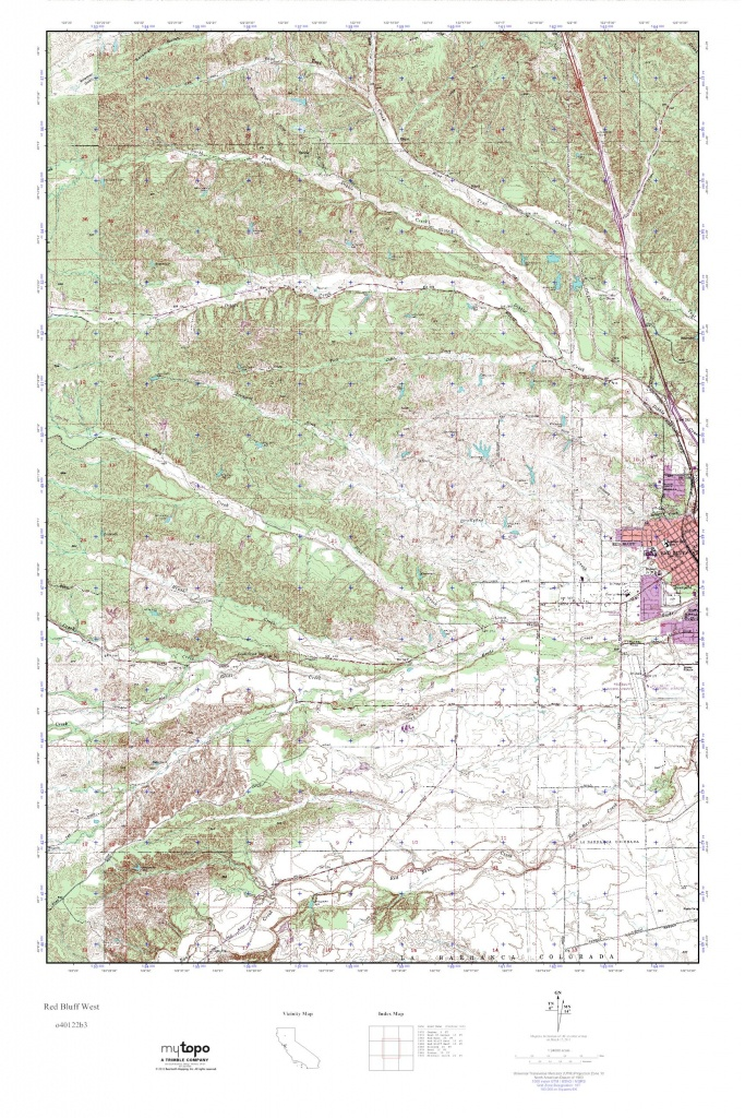 Mytopo Red Bluff West, California Usgs Quad Topo Map - Red Bluff California Map