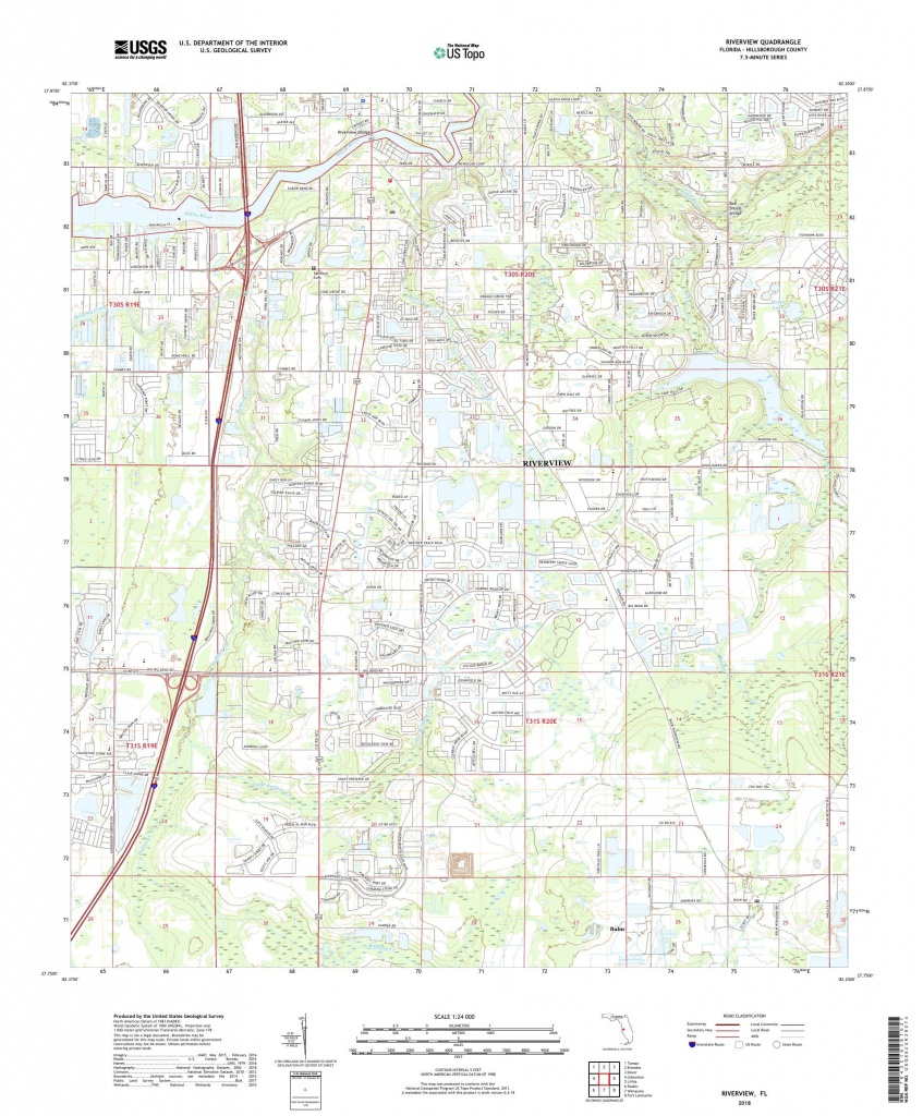 Mytopo Riverview, Florida Usgs Quad Topo Map - Riverview Florida Map