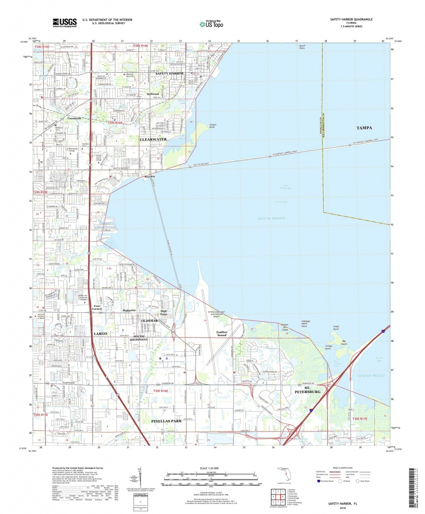 Mytopo Safety Harbor, Florida Usgs Quad Topo Map - Safety Harbor Florida Map