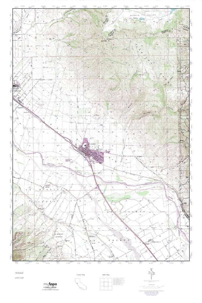 Mytopo Soledad, California Usgs Quad Topo Map - Soledad California Map