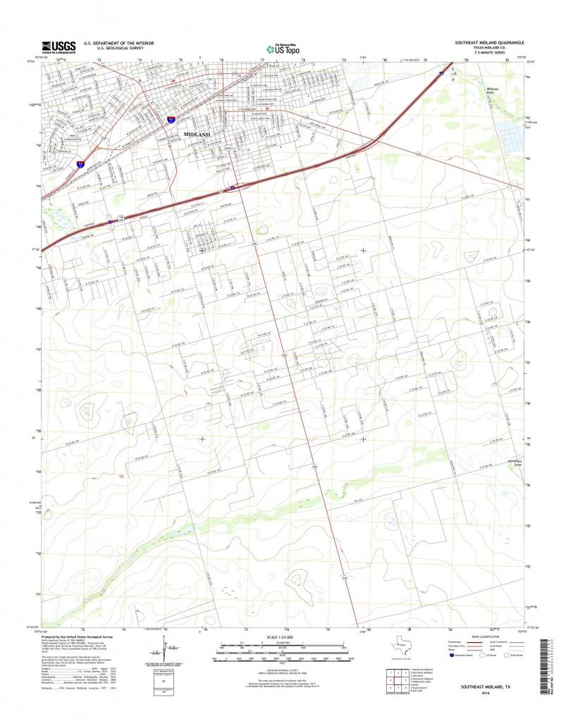 Mytopo Southeast Midland, Texas Usgs Quad Topo Map - Map Of Midland Texas And Surrounding Areas