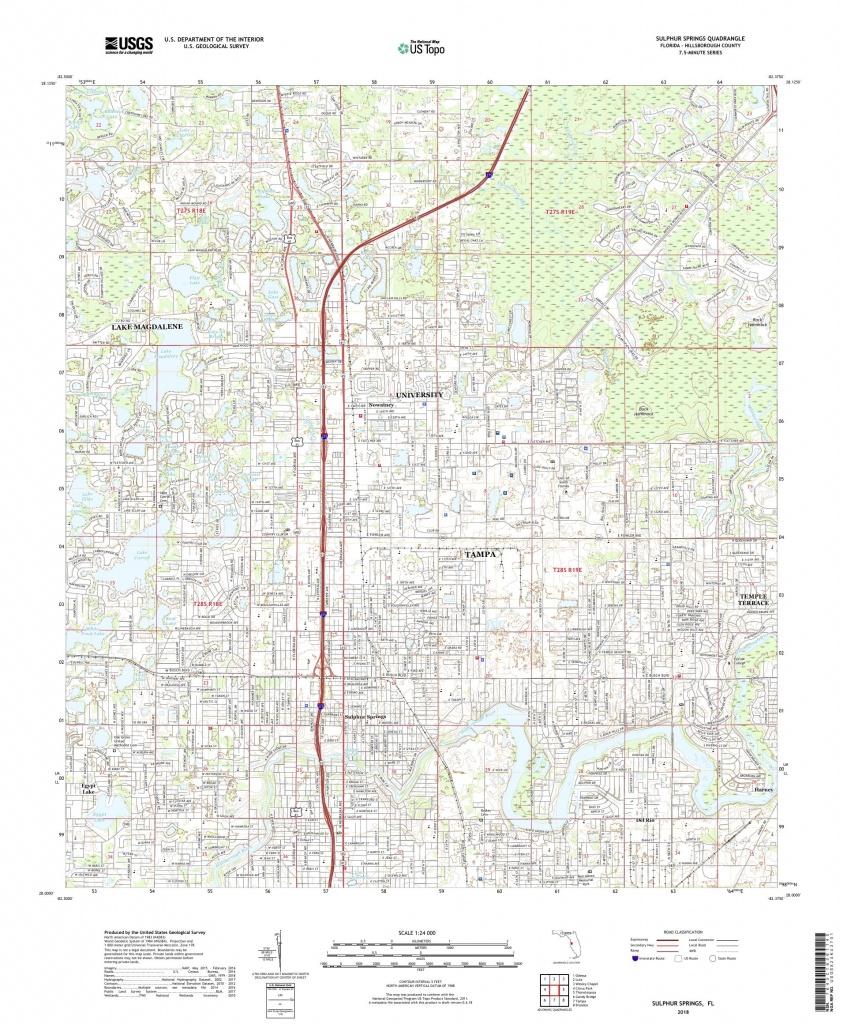Mytopo Sulphur Springs, Florida Usgs Quad Topo Map - Florida Springs Map
