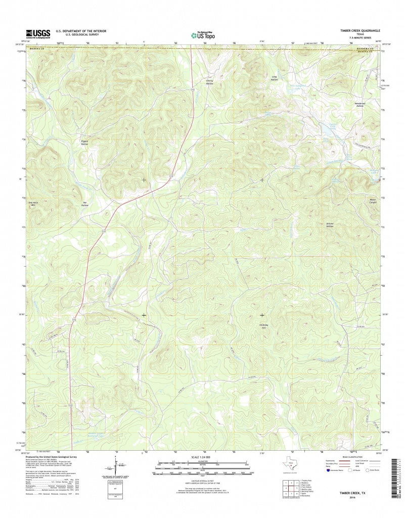 Mytopo Timber Creek, Texas Usgs Quad Topo Map - Pipe Creek Texas Map