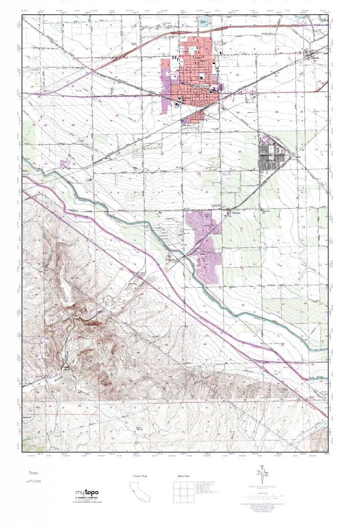 Mytopo Tracy California Usgs Quad Topo Map For - Touran - Tracy California Map