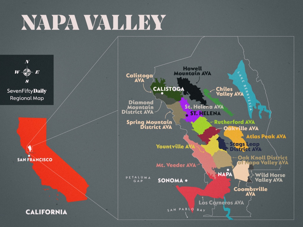 Napa Valley | Sevenfifty Daily - Map Of California Wine Appellations