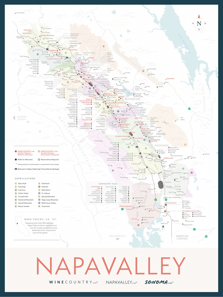 Napa Valley Wine Country Maps - Napavalley - Napa Valley California Map