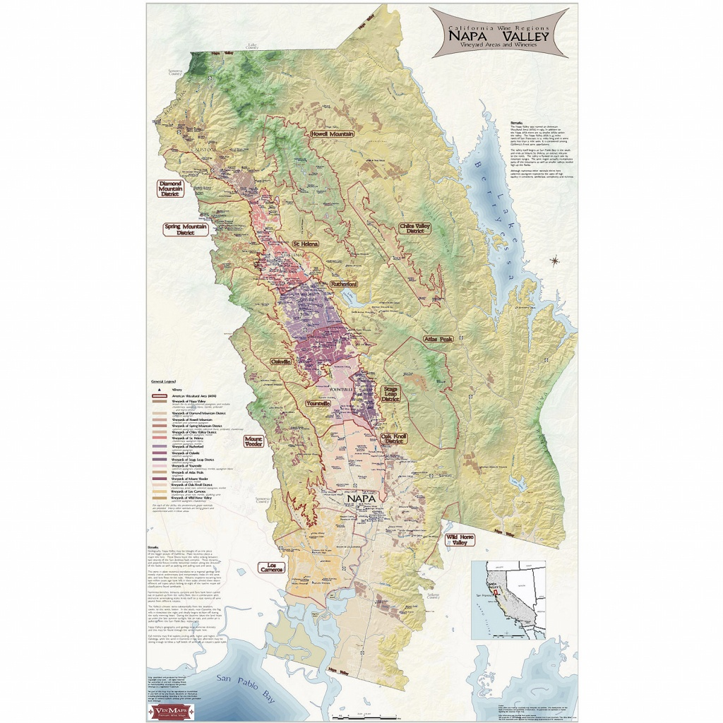 Napa Valley Wine Map - Wine Enthusiast - Map Of Northern California Wine Regions