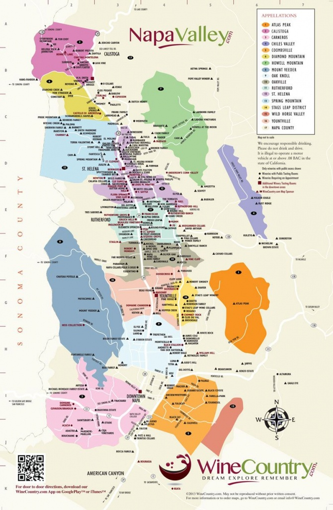 Napa Valley Wineries Map | An Adventure, A Journey, A Destination - California Wine Country Map Napa