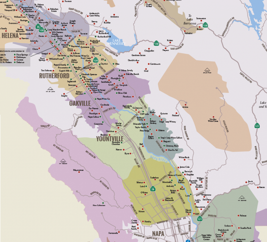 Napa Valley Winery Map | Plan Your Visit To Our Wineries - Map Of Wineries In Sonoma County California