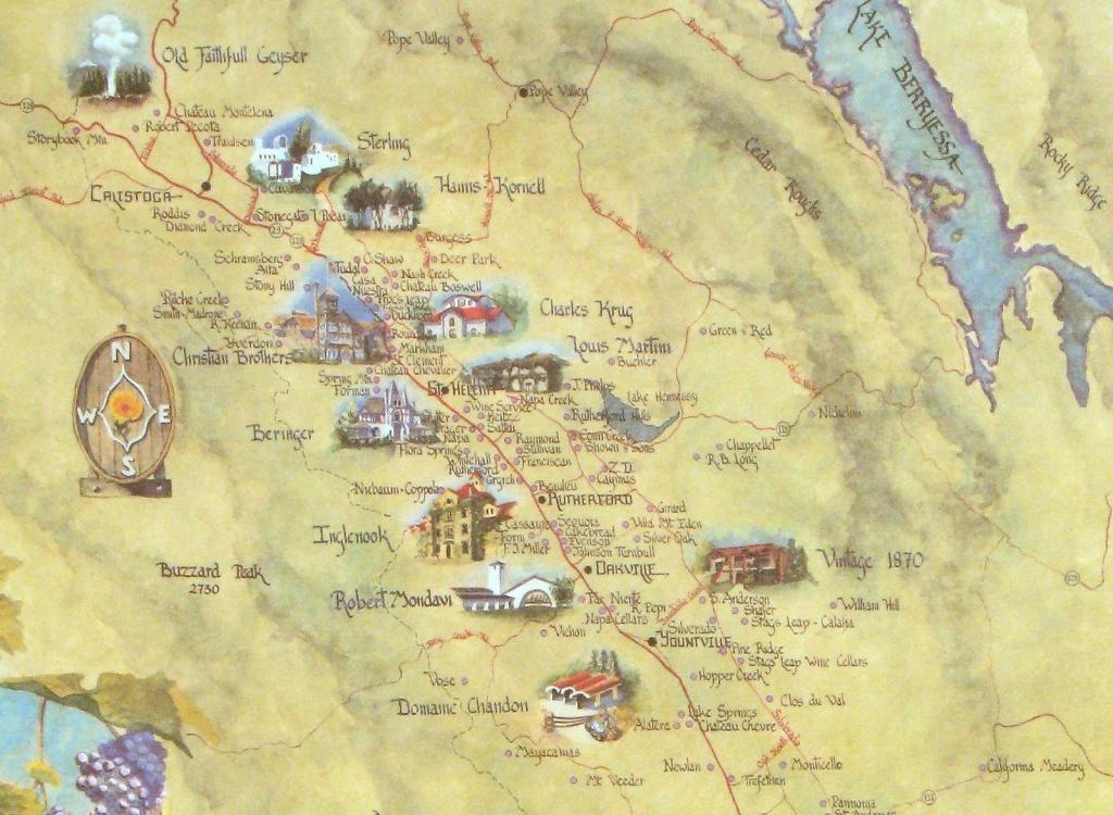 Napa Wineries.california - Napa Valley): Oceana Maps. Cambria - California Wine Map Poster