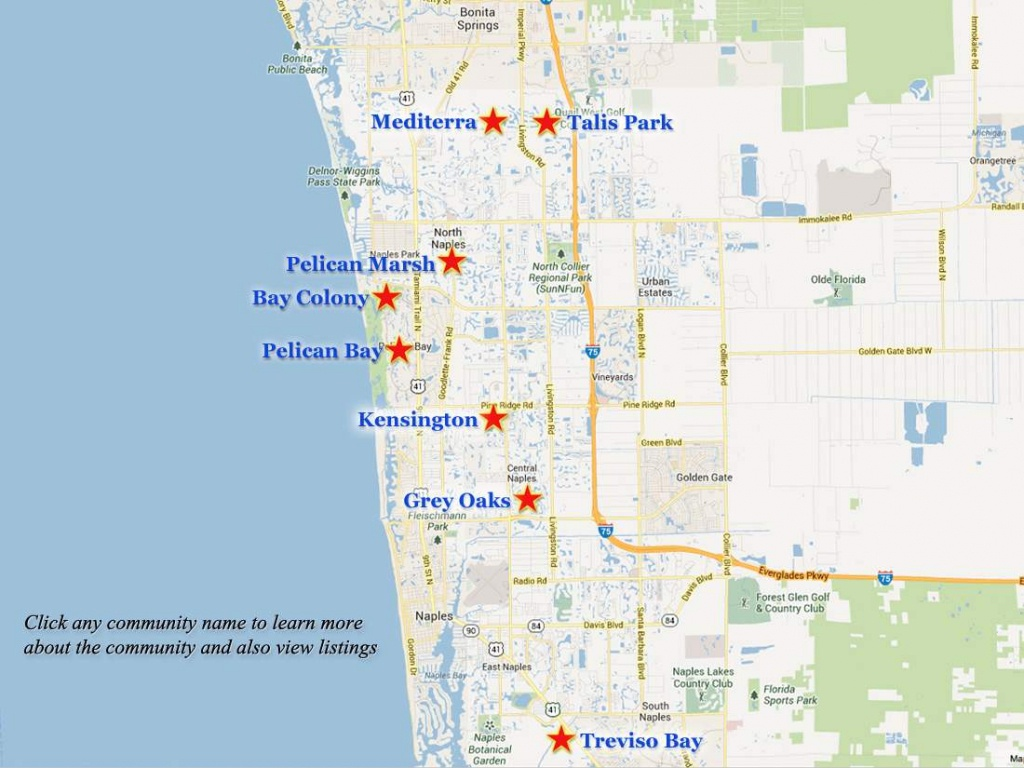 Naples-Golf-Communities-Map - Map Of Naples Florida And Surrounding Area