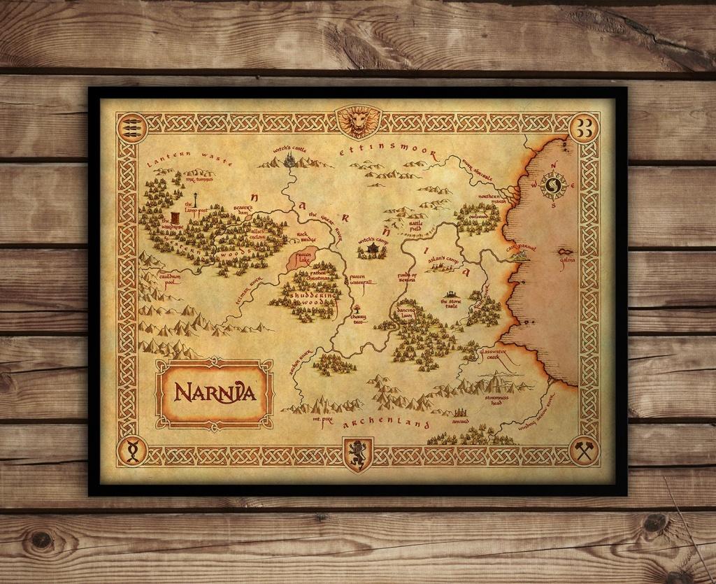Narnia Map - Narnia Art Print - C S Lewis Fantasy Map - 'narnia Poster -  Chronicles Of Narnia Nursery Decor - Wall Art - Printable Map Of Narnia