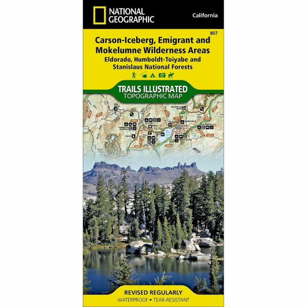 National Geographic Carson-Iceberg Emigrant Trails Illus Topo Map - National Geographic Topo Maps California