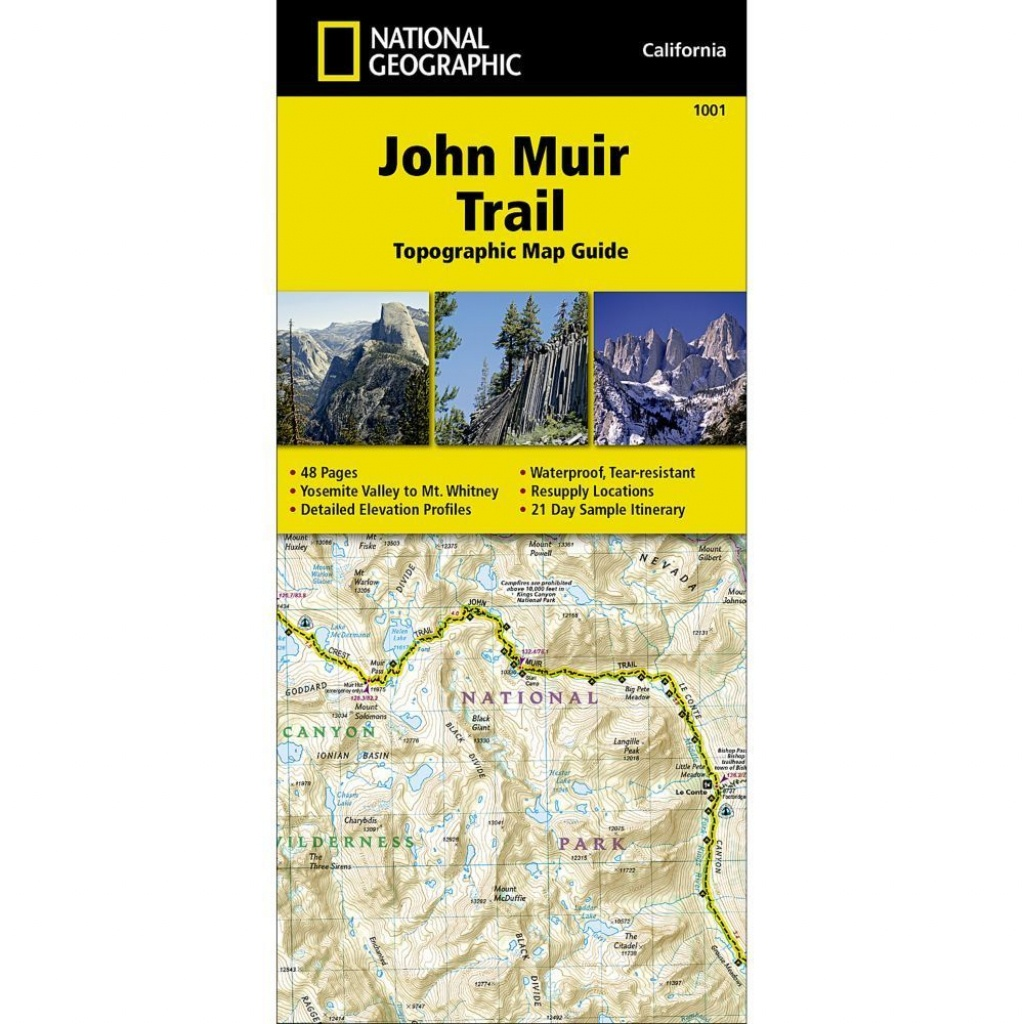 National Geographic Trails Illustrated John Muir Trail Ca Topo Map - National Geographic Topo Maps California