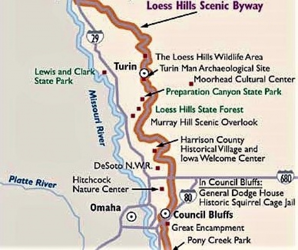 National Loess Hills Scenic Byway (Tm) | Pottawattamie County - Scenic Byways California Map