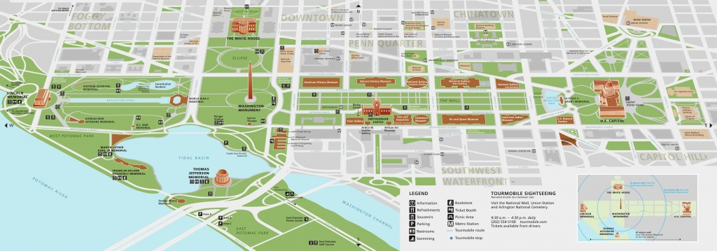 National Mall Maps | Npmaps - Just Free Maps, Period. - Printable Map Of Dc Monuments