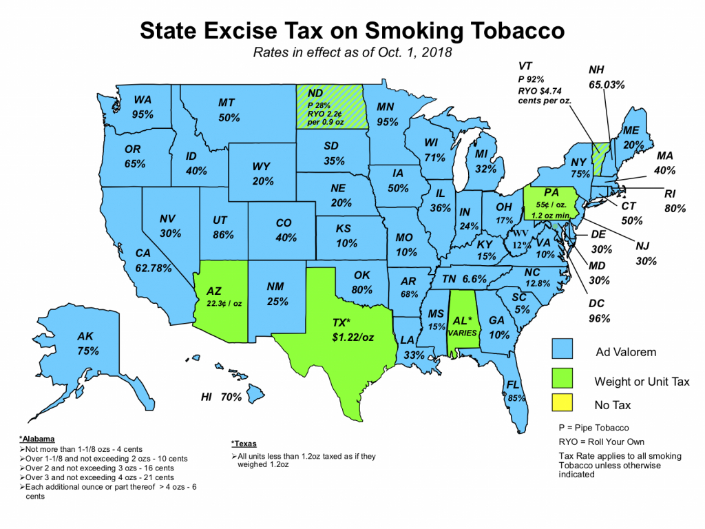Nato: Tobacco Tax Maps - Texas Sales Tax Map