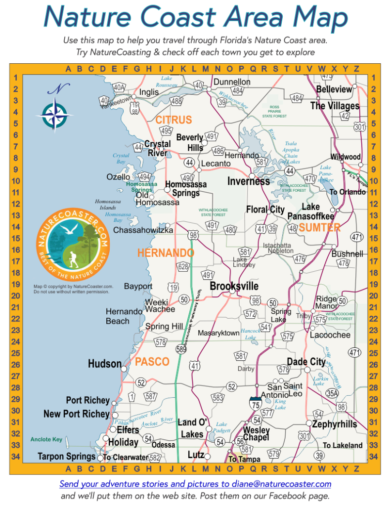 Nature Coast Area Map : Naturecoaster - Map Of Hernando County Florida
